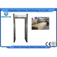 Cheap CE/ISO certificated walk through metal detector with 6 independent zones LED screen wholesale