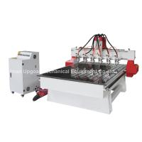 Cheap 6 Spindle Heads Wood Relief CNC Router with 1300*1800mm Working Area Servo Motor for sale
