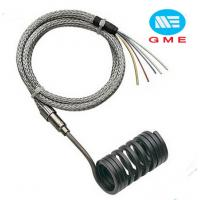 China PVC Extruder Hot Runner Coil Heaters Spring Coil Heater With Metal Mesh Lead Wire on sale