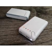 Cheap Square White 6600mah Portable USB Power Bank For Mobile Charging With LED wholesale