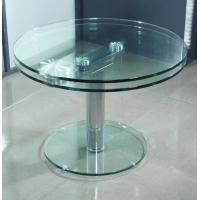 Frameless Glass Coffee Table: 8mm Round Tea Coffee Table Tempered Glass Panel For Office