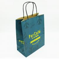 Eco Printed Paper Bags With Handles , Custom Printed Paper Shopping Bags
