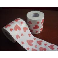 Cheap heart printed toilet paper 250 sheets 100% virgin pulp jumbo roll toilet paper for sale