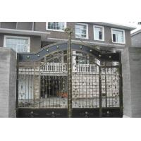 Cheap Courtyard Decorative Wrought Iron Gates Heat Treated Automatic / Manual Opening for sale