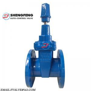 Cheap DIN F4 PN16 PN10 NBR DN100 PN16 GGG50 cast iron sluice gate valve for sale