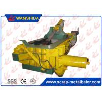 Yellow Horizontal Scrap Metal Baler / Automatic Control Hydraulic Scrap Baling Machine 18.5kw ~ 110kw