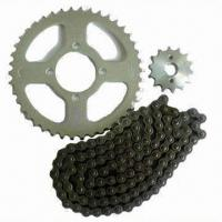 Cheap Motorcycle chain and sprocket, customized requirements are accepted for sale