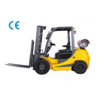 Cheap Dual Fuel Four Wheel Gasoline LPG Forklift 3000kg Capacity With Engine Protection Lock for sale