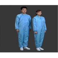 Cheap Safety Clean Room Garments Stand Collar ESD Coverall For Printing Industry for sale
