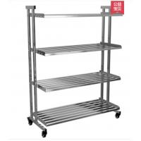 Cheap Drilling Kitchen Rack On Wheels, Clutter - Free Metal Shelves In Kitchen for sale