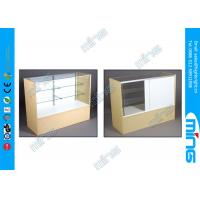 China Economy Maple Commercial Display Cabinets , Simple Full Vision Display Cases on sale