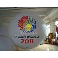 2.5m White advertising helium balloons with 2 sides digital printing for Sporting events