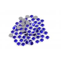 Cheap 12 / 14 Facets Rimmed Rhinestones Lead Free Round Shape For Nail Art / Shoes for sale