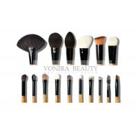 Cheap Super Soft 16Pcs Natural Animal Hair Makeup Brushes Set With Wood Handle for sale