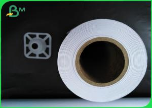 China Inkjet CAD Drawing Paper Roll 914mm X 100m White Paper Roll 2 Core on sale