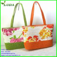 Cheap fabric straw bag for sale