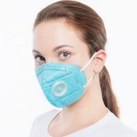 Cheap Folding Disposable Non Woven Face Mask 4 Layers With Breathing Valve for sale