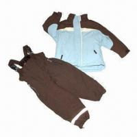 Cheap Children's suit/skiwear, made of polyester fabric, waterproof and breathability for sale