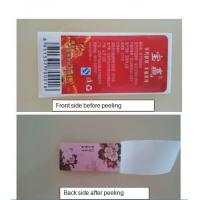 Cheap Red Flowers Double Sided Printed Adhesive Labels in Mineral Water Bottles wholesale