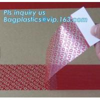 China BOPP Film Transparent 72mm Security Seal Label on sale