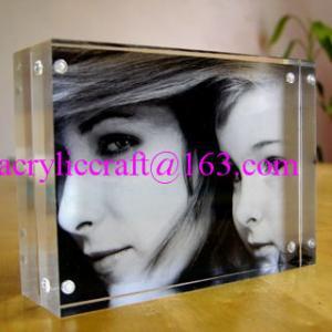 China 4x6 inch wedding frameless clear acrylic photo frame plexiglass photo holder on sale