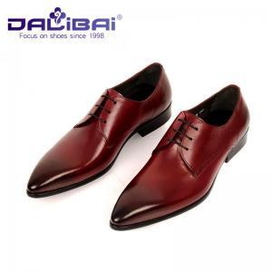 Cheap Men's Italian design Genuine Leather Pointed Toe Wedding Formal Dress wholesale