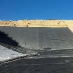 Cheap Reinforced Polyethylene Pond Liner , Anti - UV Hdpe Geomembrane Sheet for sale