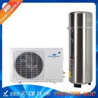 Cheap 55DegC Splinched 5kw Gas Cycle Domestic Air Heat Pump Water Heater 200-300L Pressure Tank for sale