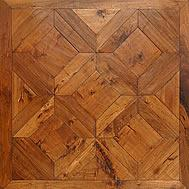 Cheap American Hickory Vienna pattern parquet flooring for sale