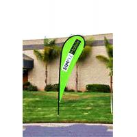 Cheap Custom Teardrop Banners Advertising , Tear Drop Banners High Strength Fiberglass Pole wholesale