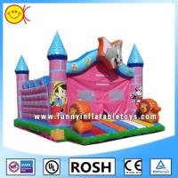 Cheap Cartoon Tom Pink Jumping Inflatable Bouncer Castle With CE / UL Blower for sale