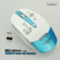 Por ta ble 2.4GHz 2.4G Opt ical Wire less Gam ing game Mouse up to 10m PC Accessories