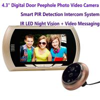 "Cheap 4.3"" Digital Door Peephole Viewer Photo Video Camera Recorder Home Security Smart PIR Video Doorbell IR LED Night Vision for sale"