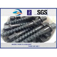 Cheap Customized 35# 45# Railroad Screw Spike For Railway Fastening System Construction for sale