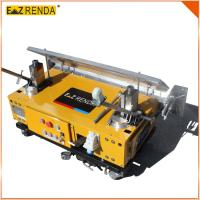Cheap Three / Single Phase Wall Plastering Machine Yellow , Building Automatic Rendering Machine for sale