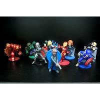 Cheap 7cm Height Little Collectible Toys Captain America Figure Blue Color With Shield for sale
