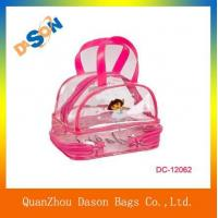 Cheap Promotional clear PVC cosmetic bag for sale