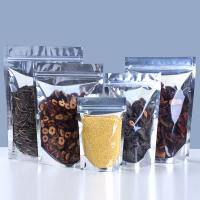 China Fashion And Environmental Clear& Aluminum Foil Pouch Stand Up Zipper Bags, Food Storage on sale