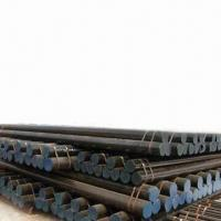 Cheap Seamless and Welded Steel Pipes with Black-painted Surface Finish, ANSI Compliant  for sale