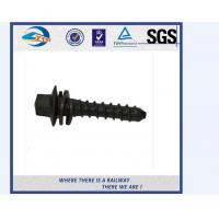 Cheap 35K 45# 40Mn2 Railway Sleeper Screws Railroad Spike 4.6 Grade for sale