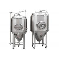 Cheap Silver Stainless Steel 304 / 316L Conical Beer Fermenter With 1000l Capacity for sale