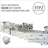 Buy cheap Fully-automatic Valved Cup Mask Making Machine Production Line from wholesalers