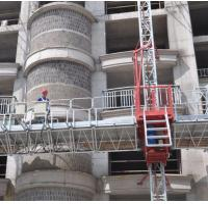 Buy cheap Single Tower Mast Climbing Work Platform , Building Construction Self Climbing Platform from wholesalers