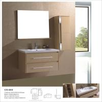 China MDF Material Wall Mounted Bathroom Cabinet , Modern Bath Vanity With Mirror on sale