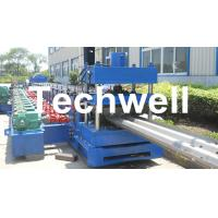 Cheap 15KW Highway Guardrail Roll Forming Machine With 7 Rollers Leveling For W Beam Guardrail for sale