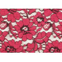 Cheap Red Brushed Elastic Lace Fabric Eco Friendly 135cm Width OEM / OMD CY-LQ0001 for sale