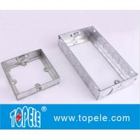 BS GI Electrical One Gang /Two Gang Switch And Socket Box/EXTENSIONS BOX, Electrical Boxes And Covers