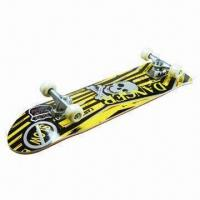 China Sports Skateboard, Comply with EN13613 Class A or B, Heat-transfer Graphic and Black Grip Tape on sale