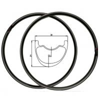 China 29 26 Carbon MTB Rims And Tires Lightweight , Carbon Fiber Mountain Bike Rims on sale