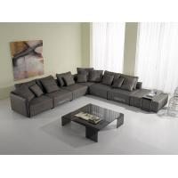Buy cheap Living Room Modern Fabric Sofas, European Style Lobby Sofa Set , Brown fabric sofas from Wholesalers